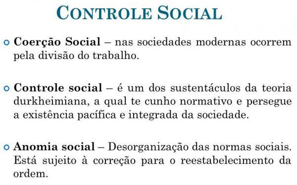 Controle Social: Anomia e Coerção
