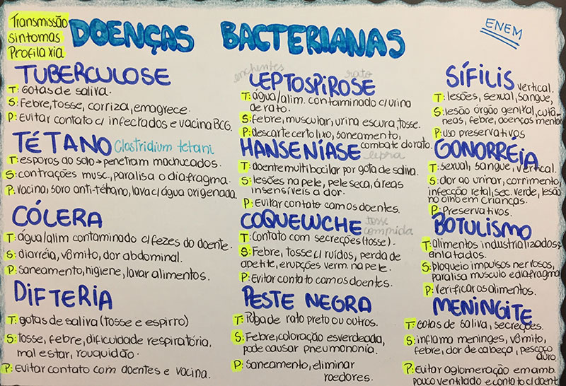 Doenças bacterianas ENEM